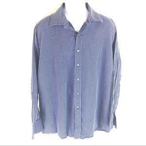 Michael Kors Men's Blue Dress Shirt 18